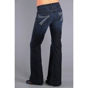 7 For All Mankind Dojo Wide Leg Jeans Size 29